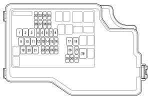 Mazda 3 (2010)  fuse box diagram  Auto Genius