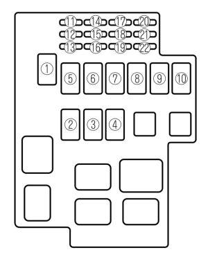 Mazda Millenia (2001  2002)  fuse box diagram  Auto Genius