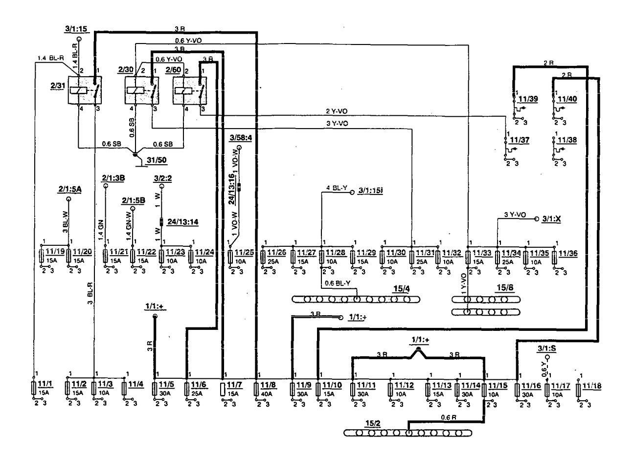 Volvo S70 Fuse Box Diagram