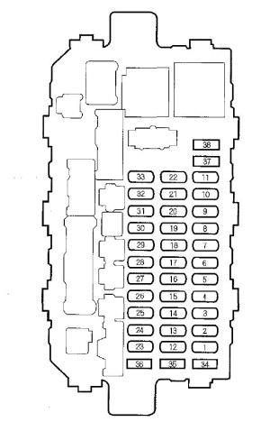 Honda CRV (2000  2001)  fuse box diagram  Auto Genius