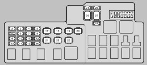 Lexus ES300 (2002  2003)  fuse box diagram  Auto Genius