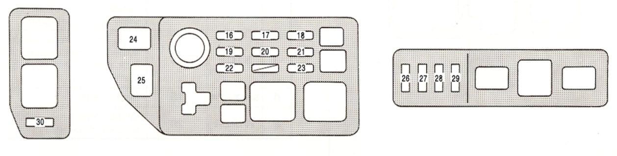 97 lexus es 300 fuse panel diagram rh homesecurity press Kia Fuse Panel 2002 Saturn L100 Fuse Panel
