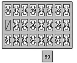 Lexus GX470 (2006)  fuse box diagram  Auto Genius