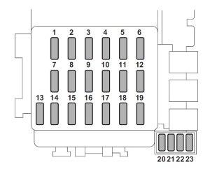 Subaru Forester (2007)  fuse box diagram  Auto Genius