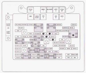 Chevrolet Suburban (2003)  fuse box diagram  Auto Genius