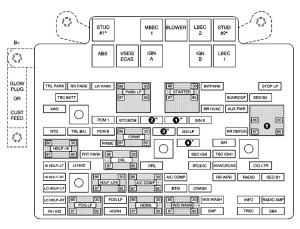 Chevrolet Avalanche (2003  2004)  fuse box diagram