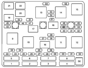 Chevrolet Malibu (2003)  fuse box diagram  Auto Genius