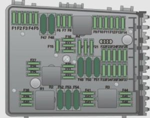 Audi A3 (2009)  fuse box diagram  Auto Genius