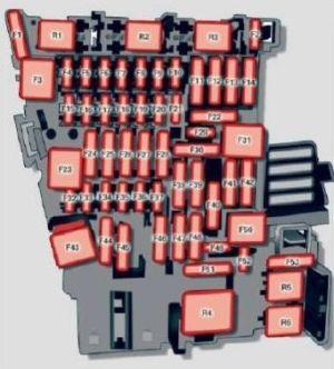 Audi A3 (2015)  fuse box diagram  Auto Genius