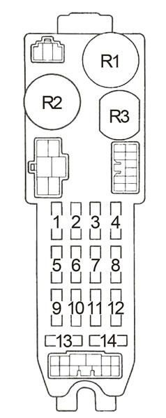 Toyota Corolla AE86 (1983  1987)  fuse box diagram