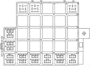 Porsche Boxster (986) (1996  2004)  fuse box diagram
