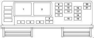 Ford Freestar (2003  2007)  fuse box diagram  Auto Genius