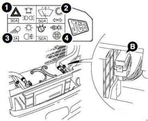 JCB 4CX  fuse box diagram  Auto Genius