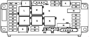 MercedesBenz w203 CClass (2000  2007)  fuse box diagram  Auto Genius