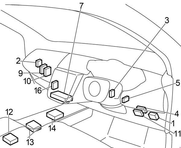 2004 Nissan Murano Fuse Box Diagram