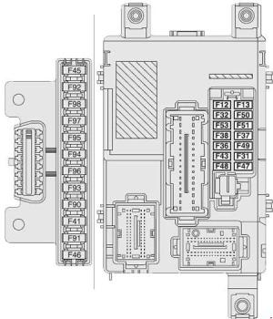 Vauxhall Combo D (2011  present)  fuse box diagram