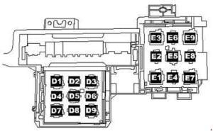Volkswagen Toured (2005  2010)  fuse box diagram  Auto
