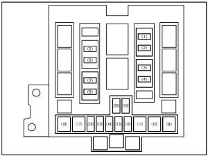 Suzuki Grand Vitara (2008)  fuse box diagram  Auto Genius