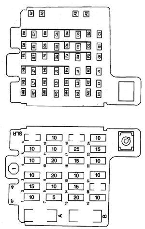 Isuzu Hombre (1998  2000)  fuse box diagram  Auto Genius