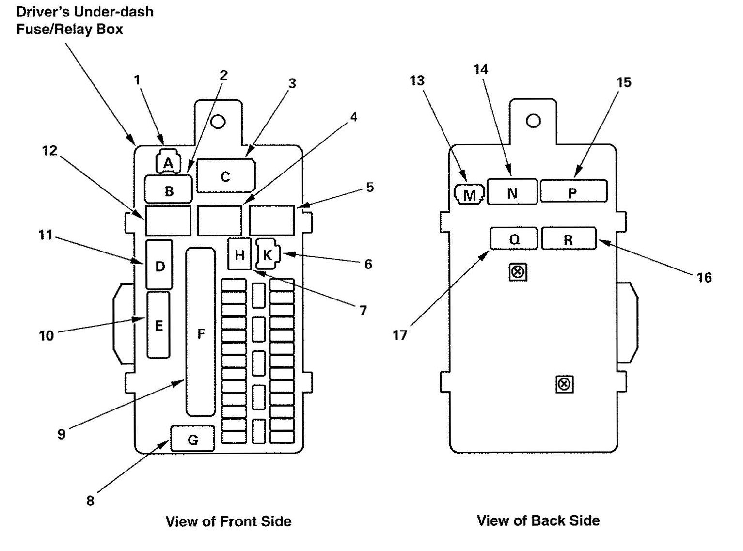 Acura Tl Fuse Box Diagram