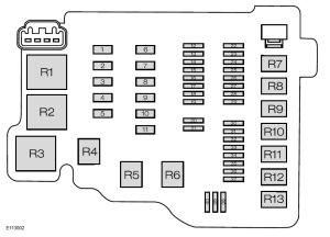 Ford Fiesta (from 2008)  fuse box diagram  Auto Genius