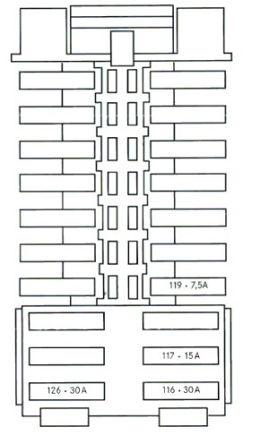 Mercedes C Class w204 (2008  2014)  fuse box diagram