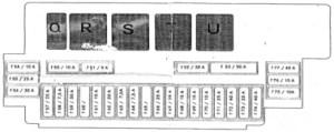 Mercedes S Class w220  fuse box diagram  Auto Genius