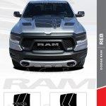 2019 2020 2021 Dodge Ram Rebel And Ram 1500 Hood Decals Reb Vinyl Graphics Kit