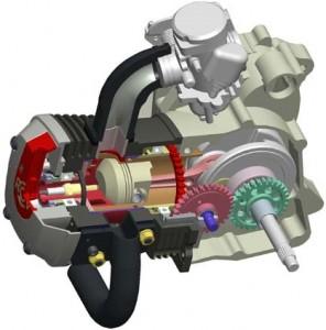 Motor cu valva rotativa