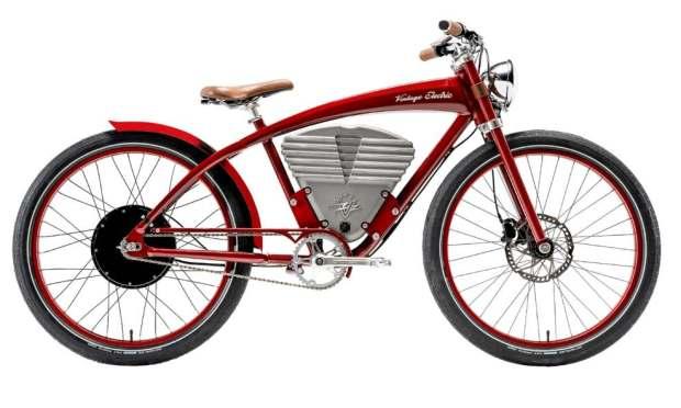 Bicicleta electrică Vintage Tracker Red