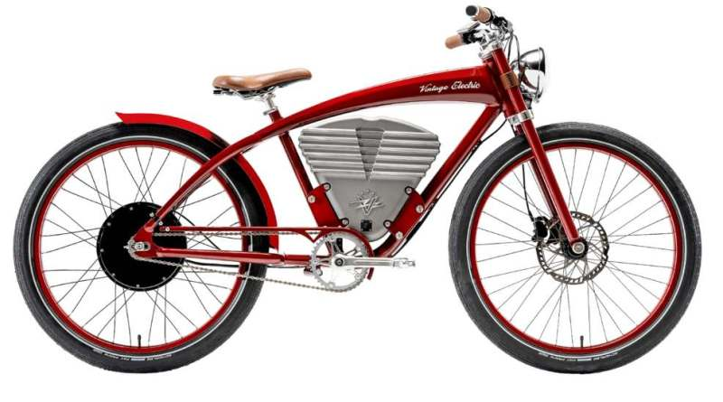Bicicleta electrică Vintage Tracker Red