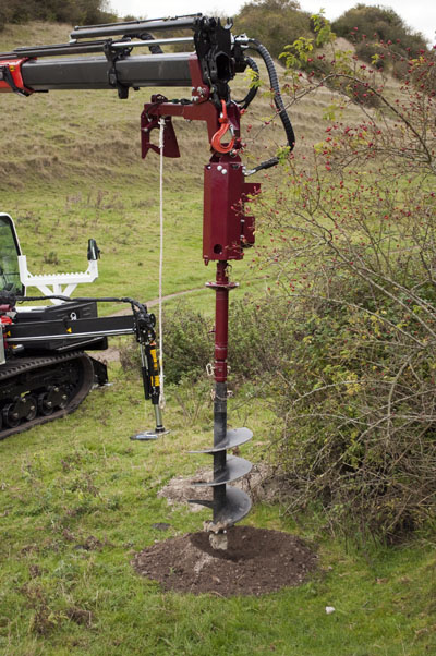 40,000PXV Rope Windup Auger Drive on Autoguide TC600 and Palfinger Crane
