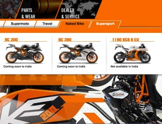KTM's Website Shows 'Coming Soon in India' Tags For RC 200 and RC 390