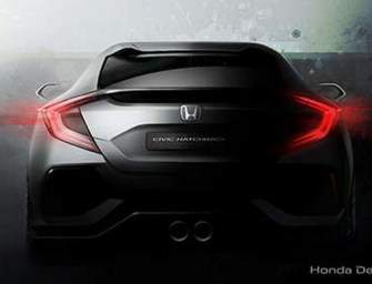 2017 Honda Civic Hatchback Prototype will Debut at the Geneva Motor Show