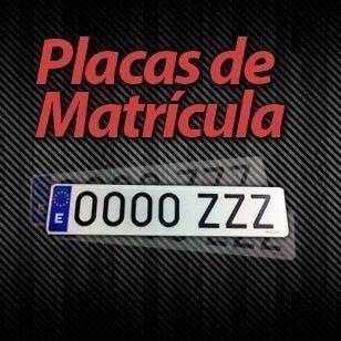 Placa matrícula-0