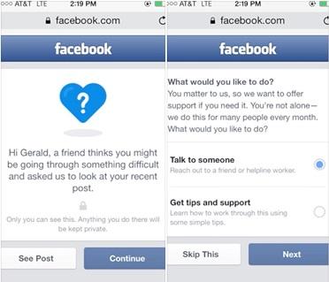 Facebook defiende que permitir vídeos de suicidios y autolesiones puede ayudar