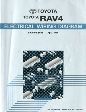 1994 TOYOTA RAV4 ELECTRICAL WIRING DIAGRAM WORKSHOP MANUAL