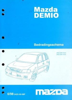 1998 MAZDA DEMIO ELECTRICAL WIRING DIAGRAM WORKSHOP MANUAL DUTCH