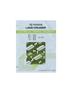 1992 TOYOTA LANDCRUISER ELECTRICAL WIRING DIAGRAM WORKSHOP