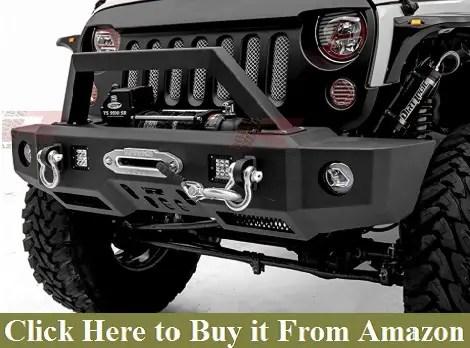 Razer Auto Black Rock Crawler Front Bumper wWinch Plate