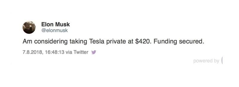Tesla Chef 7.August Twitter