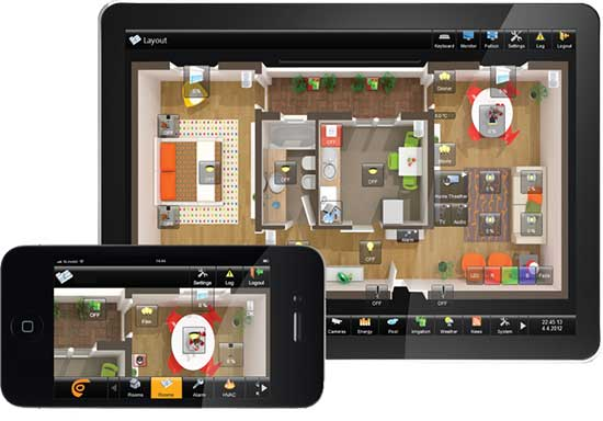 comfortclick manager knx visualization software automated home. Black Bedroom Furniture Sets. Home Design Ideas