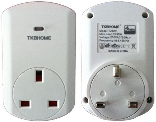 TKB TZ88E Wall Plug Socket Power Meter Front and Rear