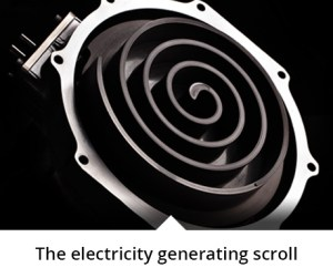 Flow Energy Electricity Generating Scroll