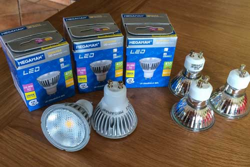 Useful Gadget of the Week Dimmable Megaman 6 Watt GU10 LED Bulbs & Useful Gadget of the Week: Dimmable Megaman 6 Watt GU10 LED Bulbs ...