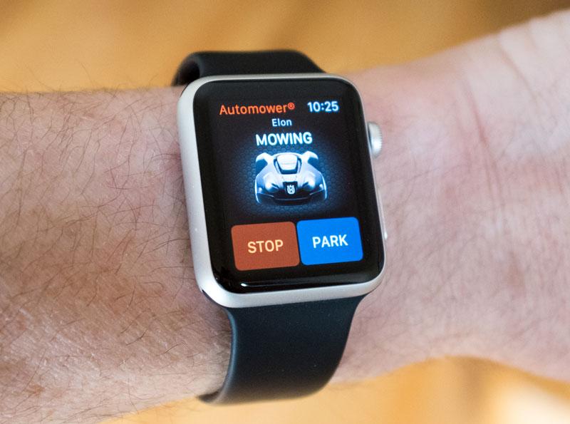 Husqvarna Automower Connect App on Apple Watch