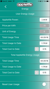 AppKettle App Energy Screen
