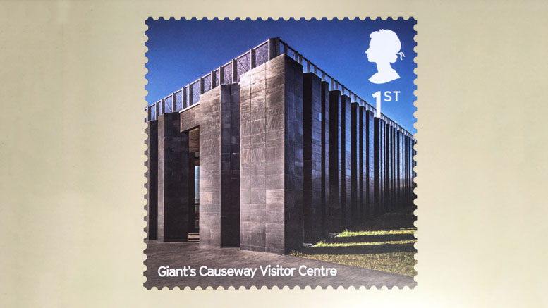 Royal Mail Stamp - The Giant's Causeway Visitors Centre