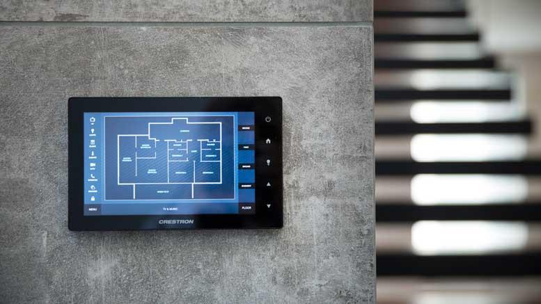 London Smart Home byPro Install AV - Crestron Touchscreen