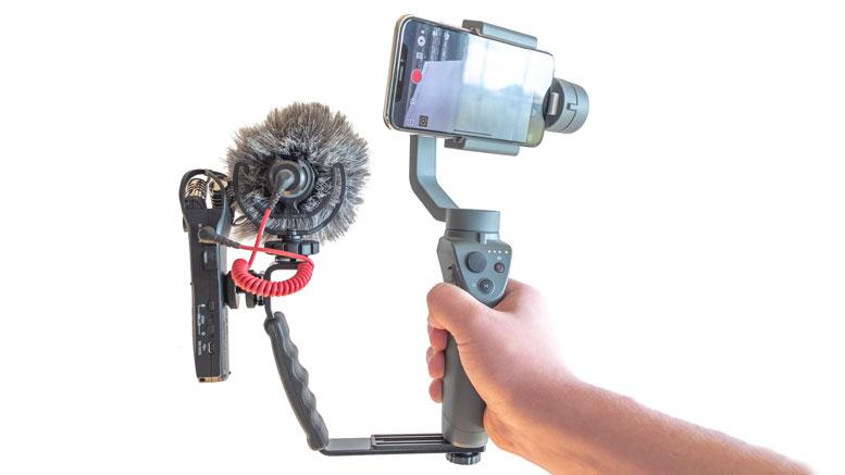 hot sale online 29cd1 5738f Franken-Cam: DJI Osmo Mobile 2 with Zoom H1n, Rode External Mic ...